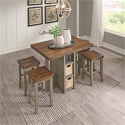 ASHLEY 5PC COUNTER HEIGHT DINETTE (LETTNER) D733-223 Image